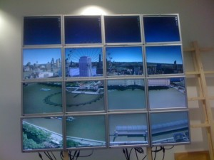 Google Earth on a massive monitor array